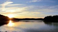 Peaceful Lake at Sunset 1080/24p HD Stock Footage