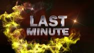 LAST MINUTE Text in Particle (Double Version) Red - HD1080 Stock Footage