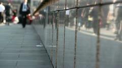 Crowd of pedestrian commuters on London Bridge 14 Stock Footage