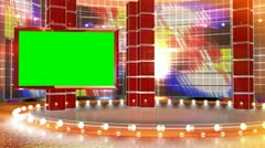 TV studio - stock footage