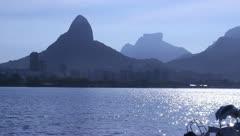 PostCard Rio de Janeiro - Brazil - Lagoon Stock Footage