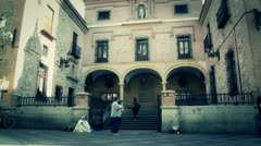 Church of San Gines Madrid stylized Stock Footage