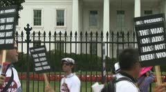 HIV-AIDS activists at the White House - stock footage