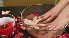 Hand bath - stock footage