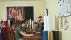 Creative office work - stock footage