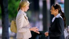 Females talking business - stock footage