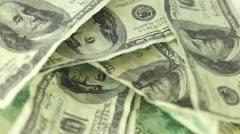 Multiple dollar bills spinning Stock Footage
