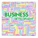 Word cloud business concept Stock Illustration