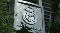 Estadio Santiago Bernabeu Madrid 06 Stock Footage