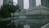 Stock Video Footage of Famous skyscrapers Petronas in Kuala Lumpur