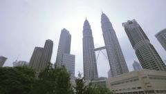 Stock Video Footage of Famous skyscrapers Petronas in Kuala Lumpur 4