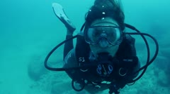 Diving baja california sur Stock Footage