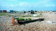Dungeness beach Stock Footage