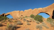 Stock Video Footage of Arches National Park - North and South Windows