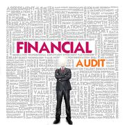 Stock Illustration of business word cloud for business concept, financial audit