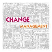 Business word cloud for business concept, change management Stock Illustration