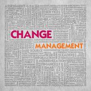 Business word cloud for business concept, change management Stock Illustration