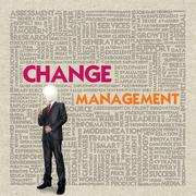 business word cloud for business concept, change management - stock illustration