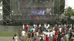 Dance music festival Stock Footage
