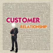business word cloud for business concept, customer relationship - stock illustration