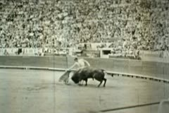 Vintage Spanish Bullfight Matador 03 - Old 16mm Film Stock Footage
