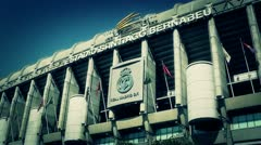 Estadio Santiago Bernabeu Madrid 16 stylized Stock Footage