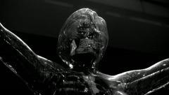 Lumena spooky anatomical female body model Stock Footage