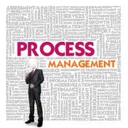 Stock Illustration of business word cloud for business and finance concept, process management