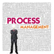 business word cloud for business and finance concept, process management - stock illustration