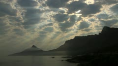 Lions Head,12 Apostles mountains timelapse,Cape Town Stock Footage