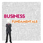 business word cloud for business and finance concept, business fundamental - stock illustration