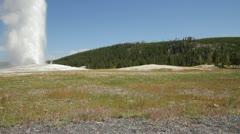 Yellowstone National Park - Old Faithful Geyser Stock Footage
