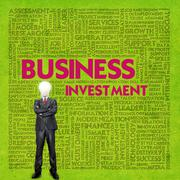 Stock Illustration of business word cloud for business concept, business investment