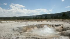 Stock Video Footage of Yellowstone - Bubbling Hot Spring
