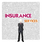 business word cloud for business and insurance concept, policy - stock illustration