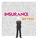 Stock Illustration of business word cloud for business and insurance concept, policy