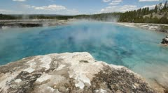 Yellowstone - Hot Spring Pool - stock footage