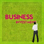 Business word cloud for business concept, business investment Stock Illustration