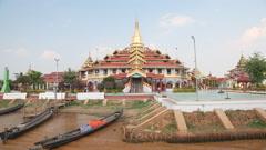 Phaung Daw Oo pagoda Stock Footage
