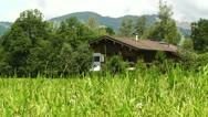 Stock Video Footage of European Alps Austria 19 house