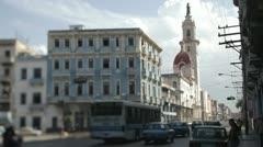 Havana cuba vedado Stock Footage