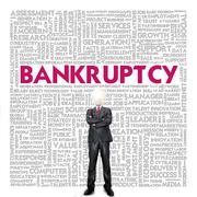 Business word cloud for business concept, bankrupt Stock Illustration