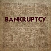 business word cloud for business concept, bankrupt - stock illustration
