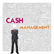 business word cloud for business concept, cash management - stock illustration