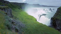 Gullfoss in Iceland Stock Footage