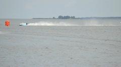 Grand Prix Formula 1 H2O World Championship Powerboat Stock Footage