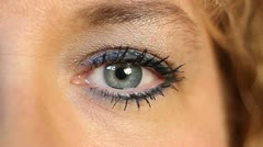 Female Eye Extreme Closeup Stock Footage