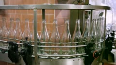 "Sparkling wine production in italy ""metodo classico"": wine bottling process. Stock Footage"