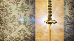 Golden Sword - stock footage