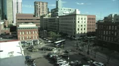 Downtown Denver 16th Street Aerial Stock Footage